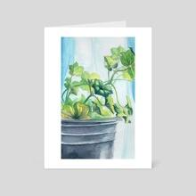 Window Plant - Art Card by Claudia Lopez
