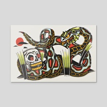 Skull - Acrylic by Lorenzo Branca
