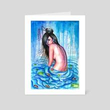 Waterfall - Art Card by Olesya Umantsiva