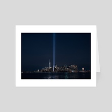 9/11 memorial - Art Card by Anthony Retournard