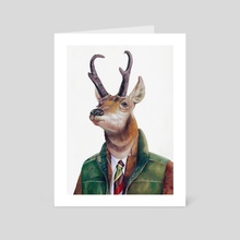 Pronghorn - Art Card by Animal Crew