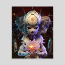 Lotus Princess - Canvas by LIK Visual Art