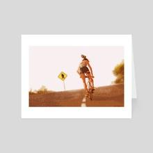 Bicycle Girl - Art Card by Olivia Ó Duinn