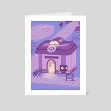 Pokemon Centre (Night) - Art Card by Laura Long