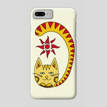 Cat and Sun. Art picture - Phone Case by Dmytro Rybin