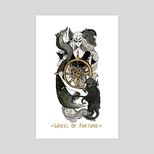 Mermaid Tarot Series- Wheel Of Fortune by Faith Schaffer