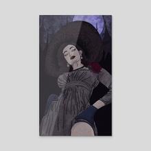 Tall Vampire Lady - Acrylic by Ziad Alhaddad
