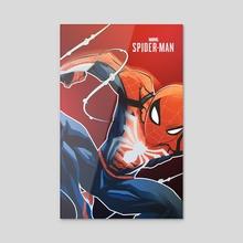 Spiderman 2018  - Acrylic by James Diato
