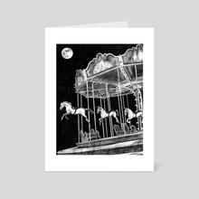 Original Carousel Art - Art Card by Zach Meyer