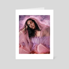 Goddess in Pink - Art Card by Jarin Z F