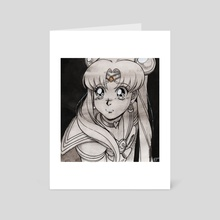 Sailor Moon Ink  - Art Card by Ivy