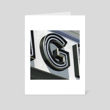 G - Art Card by Sam Lacombe