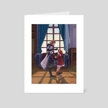 Albedo and Klee - Art Card by Skekka