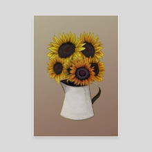 Sunday Sunflowers in a Jug - Canvas by Jessica Oxley