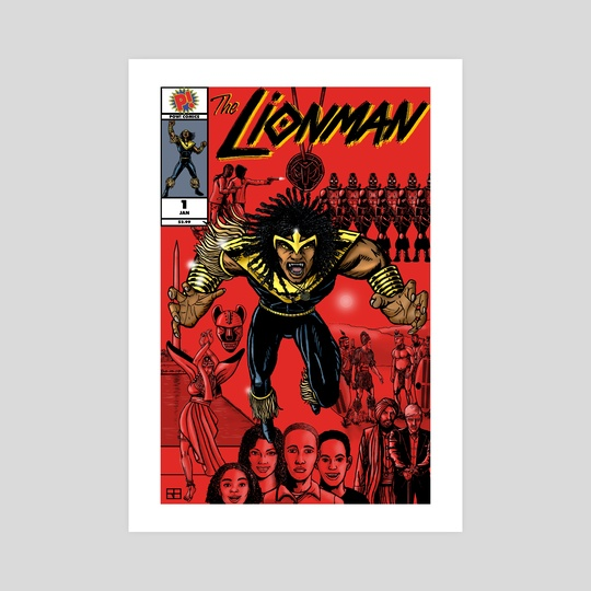 The Lionman #1 by Work of Art Studios
