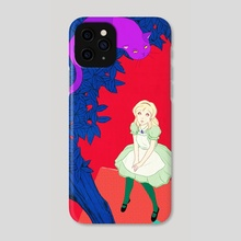 Alice and Cheshire cat - Phone Case by Sai Tamiya