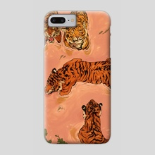 Tiger Beach - Phone Case by Vincent Cecil