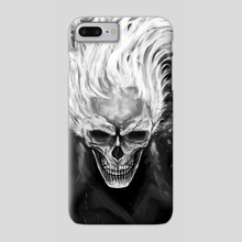Skull in flames - Phone Case by Efrain Sosa