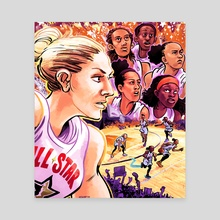 WNBA All Stars 2019 - Team Delle Donne - Canvas by Kevin Czap