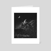 The White Ship - Art Card by Amy Tarangelo