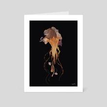 Float away- Reincarnation series - Art Card by Aamina Hashmi