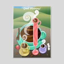 Good Morning Coffee! - Acrylic by Midnight Rainbow Graphics