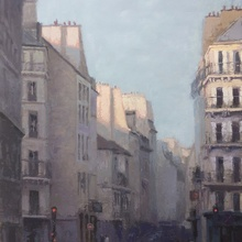 Paris Dying Day - Acrylic by Jesse Hitchens