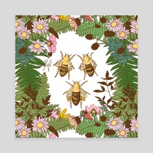 Save the Bees - Canvas by Feroniae