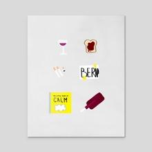 Black Books - Acrylic by Basil