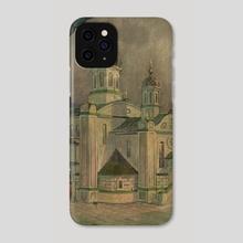 Church in Kiev (1928) by V.P. Shkurkin - Phone Case by Katya Shkurkin