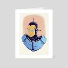 SPACEMAN PORTRAIT (COLOR) - Art Card by Jason Piperberg
