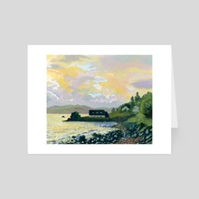 16/30 Sunset on The Isle of Skye - Art Card by Cassandra Webster