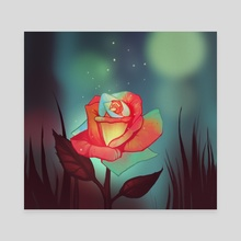 Night rose - Canvas by FoxbergART Foxberg