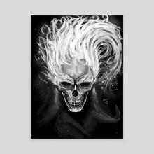 Skull in flames - Canvas by Efrain Sosa