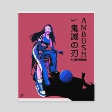 DEMON SLAYER X AMBUSH X NIKE - Canvas by SWISH ART