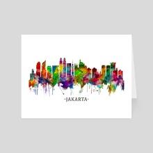 Jakarta Indonesia Skyline - Art Card by Towseef Dar