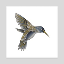 Hummingbird - Canvas by Adam Lindsay Honsinger