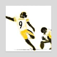 Football 15 - Canvas by Aaron Riley