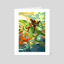 riding with the waves - Art Card by Radicles A.D