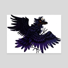 Corviknight - Canvas by Holly L