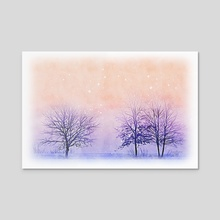 Winter - Mixed Media - Acrylic by Dreamframer Art