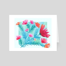 Joy! Floral Watercolor - Art Card by Modern Tropical