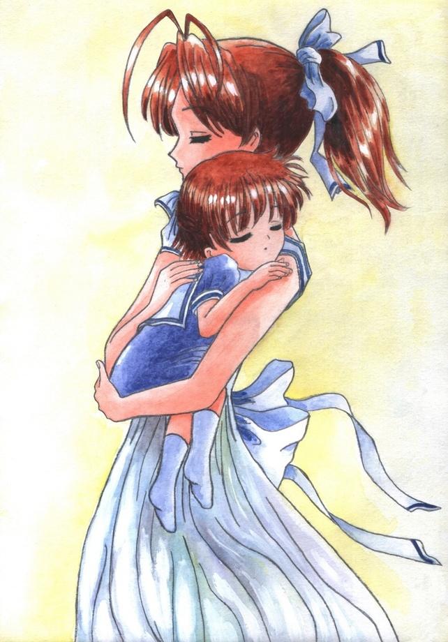 Sleeping Ushio Clannad Fanart An Art Print By Aurora Borealis