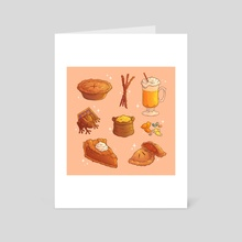 Hogwarts Food - Art Card by Brittnie