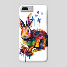 Rainbow bunny - Phone Case by Andreea Red