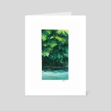 Watercolor creek - Art Card by Ethan Yazel