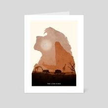 The Lion King - Art Card by Ryan Ripley