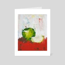 Vanishing Green Apple - Art Card by Eric Buchmann