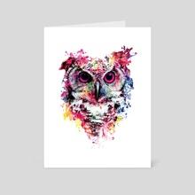Owl - Art Card by RIZA  PEKER