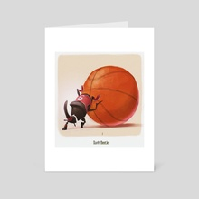 Dunk Beetle - Art Card by Sérgio  Saleiro